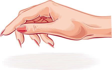 女性の手を歓迎する準備ができて。 写真素材 - 83407228