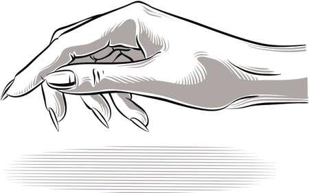 Woman's hand ready to welcome. Фото со стока - 83407227