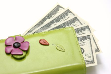 Purse with money  Stock Photo - 5537960