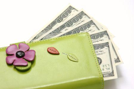 Purse with money  Stock Photo - 5537960