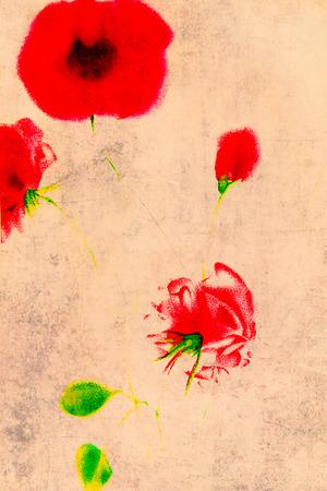 cartoline vittoriane: Vintage Background - Floral Illustration - Old Paper Texture