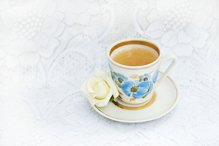 teaparty: Cup of tea in Shabby chic style