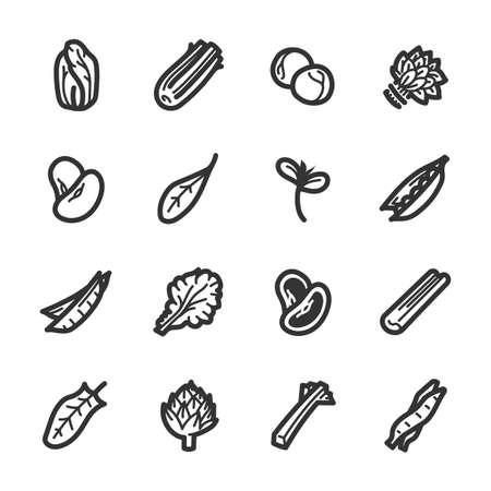 Groenten pictogrammen. Professionele vectorpictogrammen voor uw website, toepassing en presentatie.
