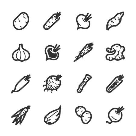 Vegetables icons. Professional vector icons for your website, application and presentation.