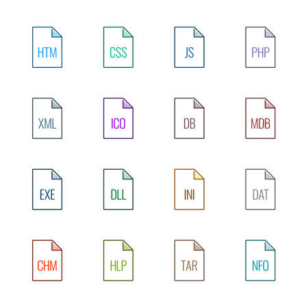 html: File type icons: Websites and applications - Linne UL Color