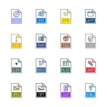 tiff: File type icons: Miscellaneous - Linne Color
