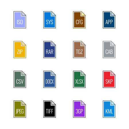 tiff: File type icons: Miscellaneous - Linne UL Color