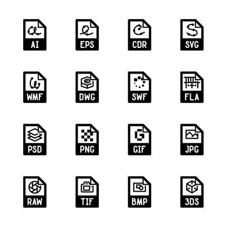 File type icons - Graphics Stock Vector - 84744468