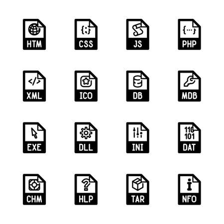html: File type icons - Websites and applications