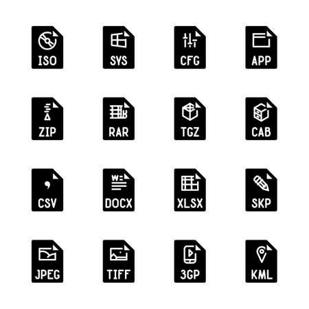 File type icons - Miscellaneous