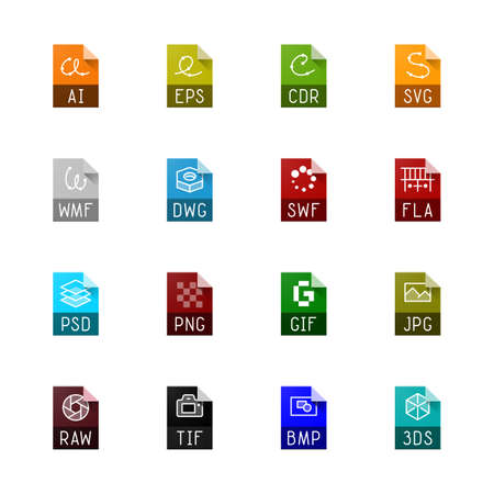 svg: File type icons - Graphics
