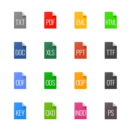 File type icons - Texts, fonts and page layout