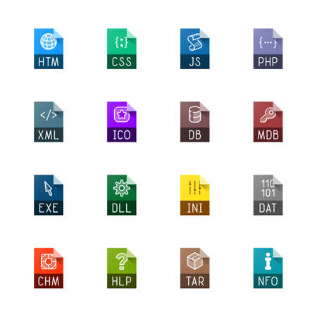 css: File type icons - Websites and applications