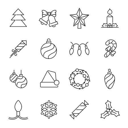 Christmas icons - Christmas tree and decorations
