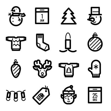 Christmas icons - Deer, discounts and decoration