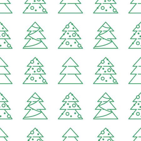 Christmas seamless pattern - Xmas trees