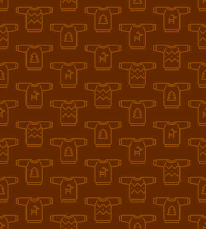 Christmas seamless pattern - Ugly sweaters