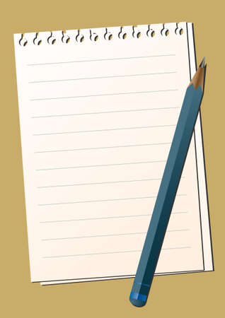 Blank sheet of paper with a pencil