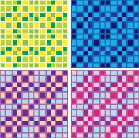 Seamless structure from multi-coloured a small square, reminding a tile. A vector illustration.