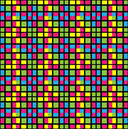 reminding: Seamless structure from multi-coloured a small square, reminding a tile. A vector illustration.