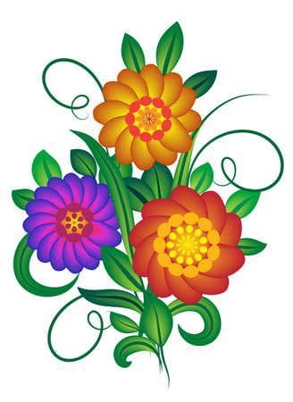 Un bouquet de fleurs. Vector illustration