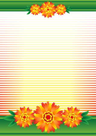 dissolved: Lo sfondo per il rosso-arancio fiori sciolto.