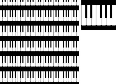 seamless pattern from black and white piano keys Illustration