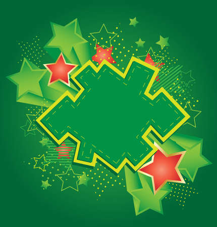 The background green army style with the stars Vector