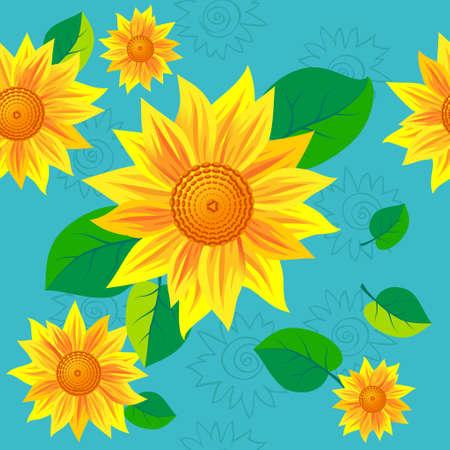 sunflower pattern flower, illustration Vector