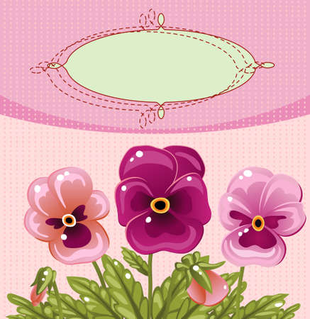 Vintage card with a flower Vector