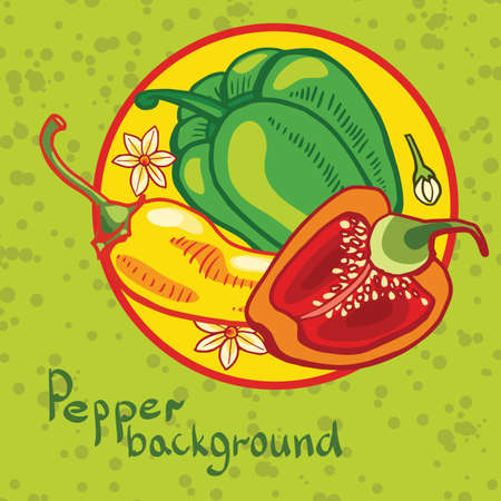 peper: backgroundof colored bell peppers