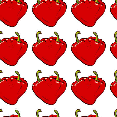 pepper heart seamless vector Vector