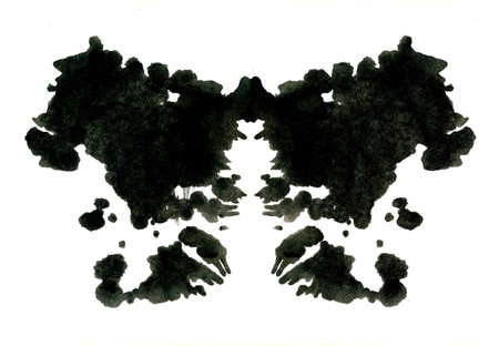inkblot: Rorschach inkblot test illustration