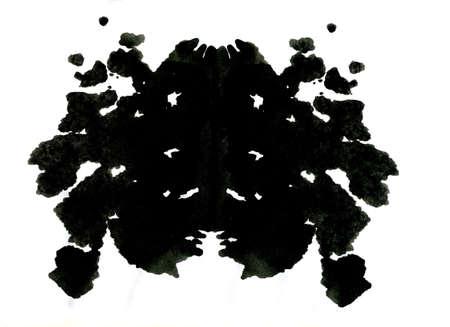 metodo cientifico: Rorschach ilustración inkblot prueba Foto de archivo
