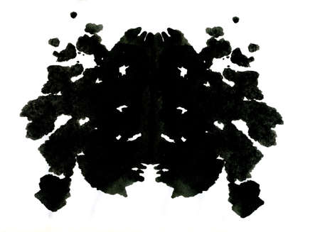 Rorschach inkblot test illustration illustration