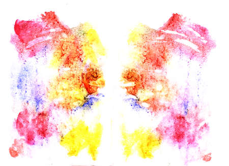 inkblot: Rorschach inkblot test illustration