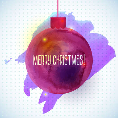 christmas watercolor: red abstract watercolor background