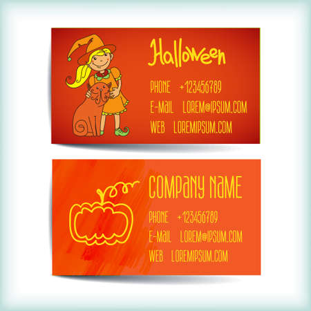 Set saturated modern business card template Vector