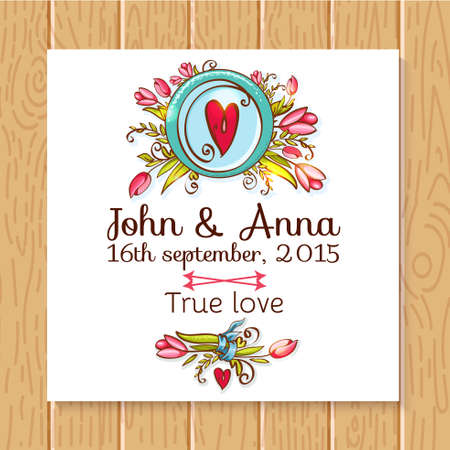Wedding invitation, thank you card, save the date cards. Wedding set. RSVP card Vector