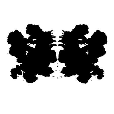 inkblot: Rorschach inkblot test illustration, random abstract background.