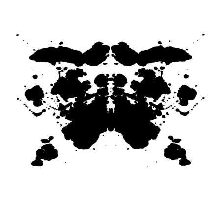 Rorschach inkblot test illustration, random abstract background.