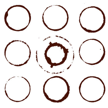 Coffee Stain, Isolated On White Background, Vector Illustration Vector