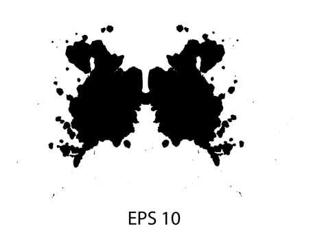 medical evaluation: Rorschach inkblot test illustration, random abstract background.