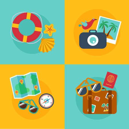 foto carnet: Conceptos y banners de viajes, verano