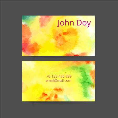 Set of two creative business card Vector
