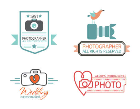 blogs: Photography Badges and Labels in Vintage Style