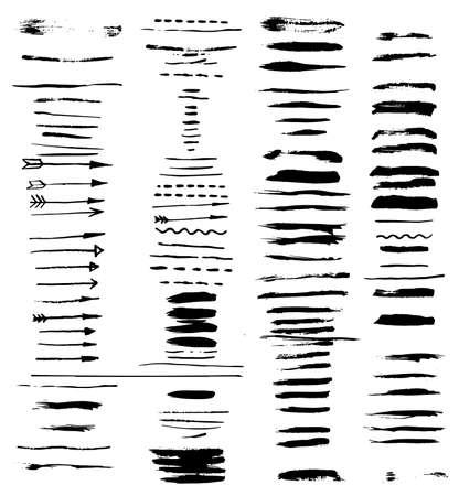 grunge brush strokes. Ilustração