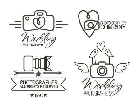 logos empresa: Insignias Fotografía y etiquetas de estilo vintage