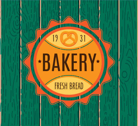 food label: Collection of vintage retro bakery  Illustration