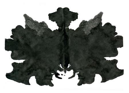 metodo cientifico: Ilustración prueba de Rorschach, fondo abstracto aleatorio. Foto de archivo